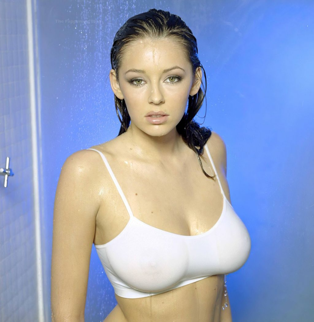 Keeley Hazell Poses Nude in the Shower (25 Photos)