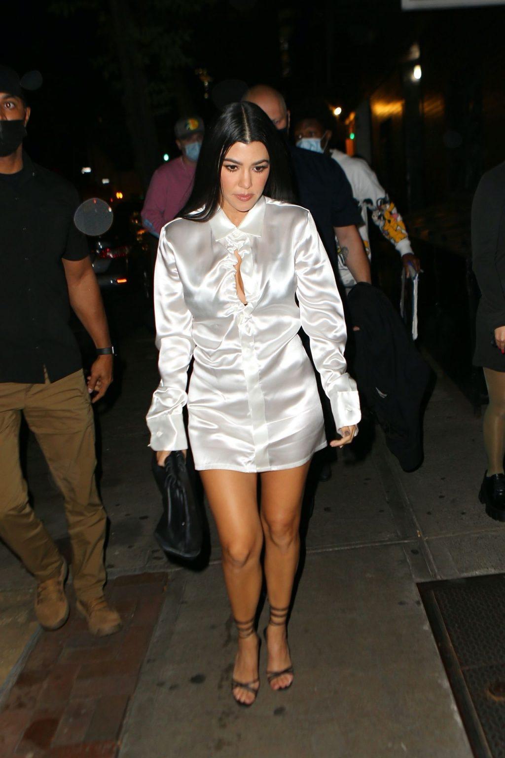 Leggy Kourtney Kardashian & Addison Rae Step Out for Dinner (39 Photos)