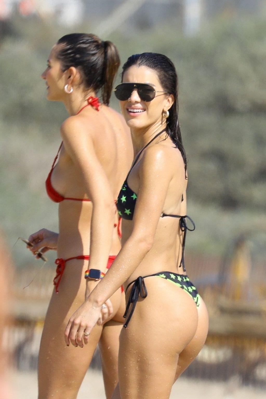 Camila Coelho Stuns in a Black and Green Bikini at the Beach (44 Photos)