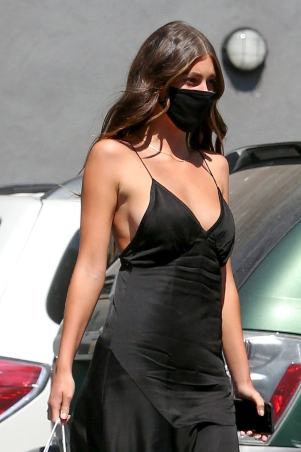 Braless Camila Morrone Dons Cute LBD in Hollywood (16 Photos)