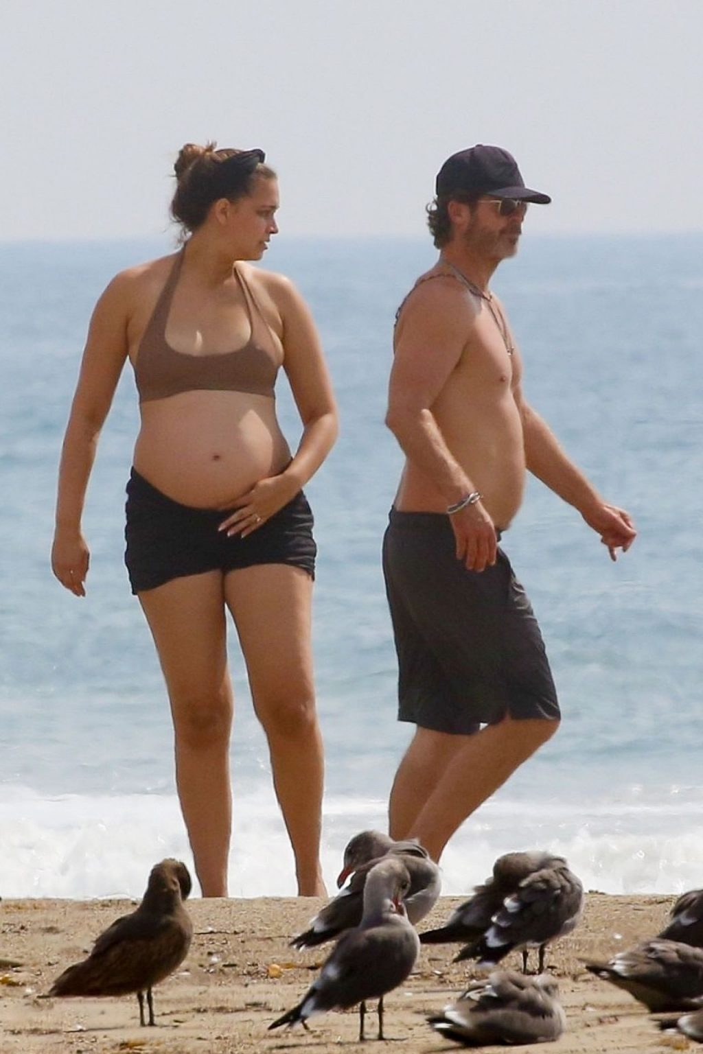April Love Geary Shows Off Her Growing Baby Bump at the Beach with Robin Thicke (29 Photos)