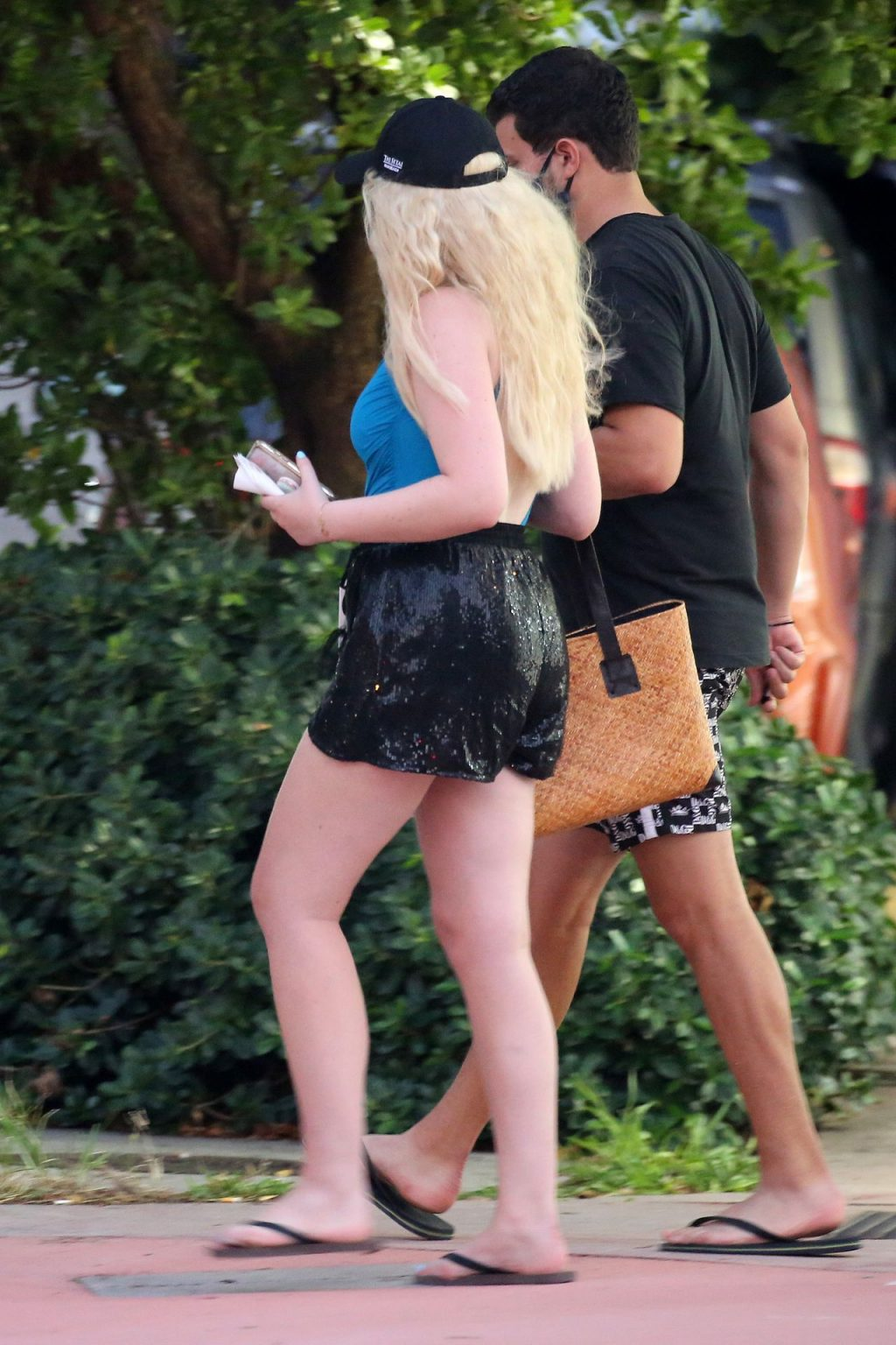 Tiffany Trump Wears a Blue Swimsuit and Relaxes on the Beach in Miami (96 Photos)