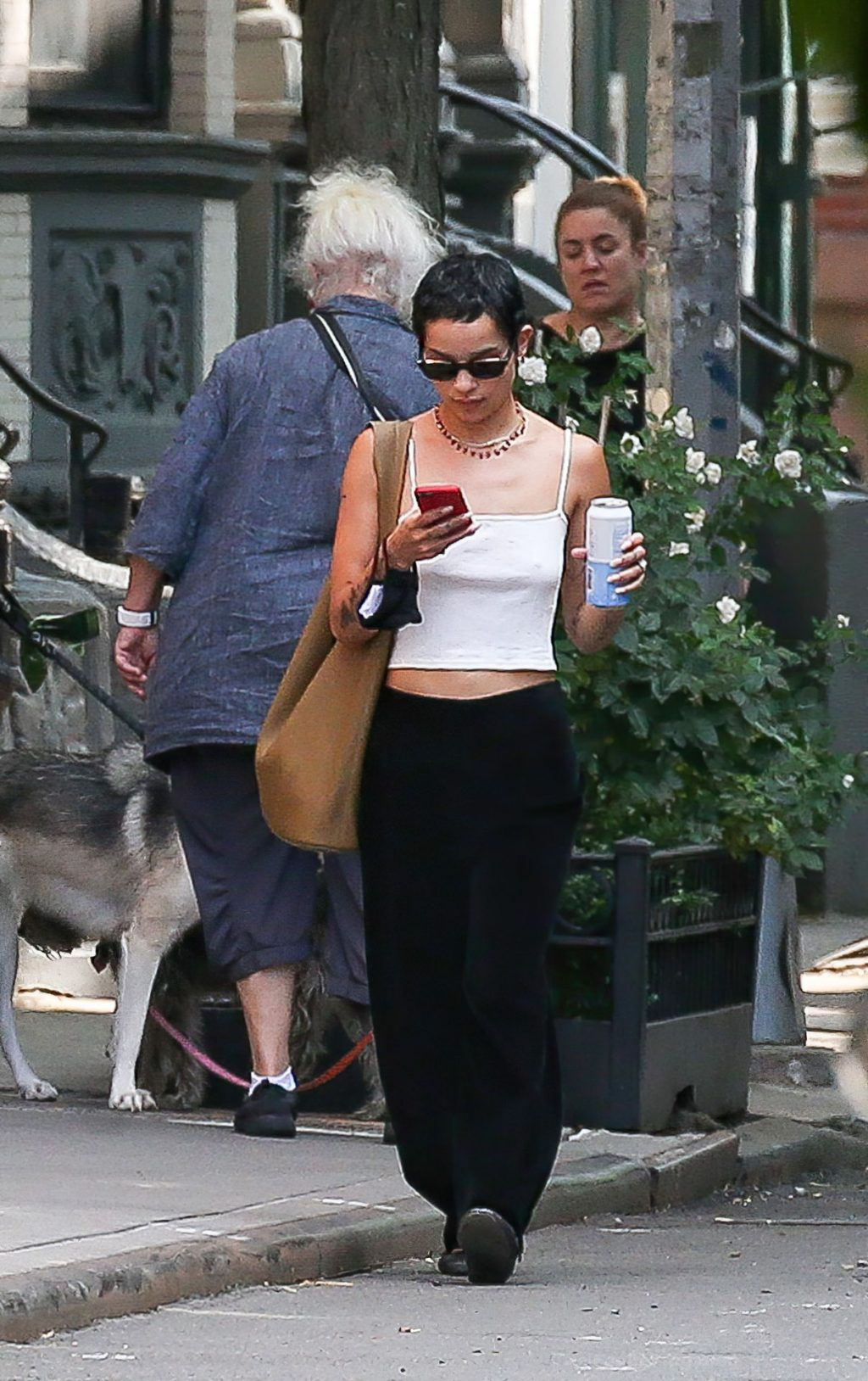 Zoe Kravitz is Pictured Braless on a Solo Stroll in NYC (6 Photos)