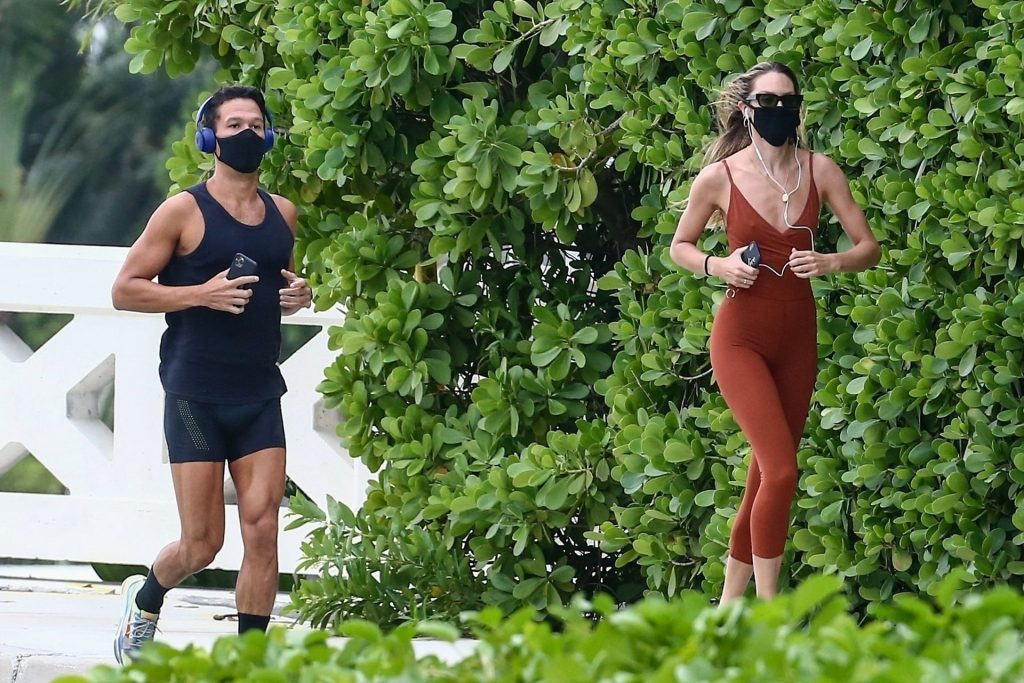 Candice Swanepoel Goes for a Run in Rainy Miami (44 Photos)