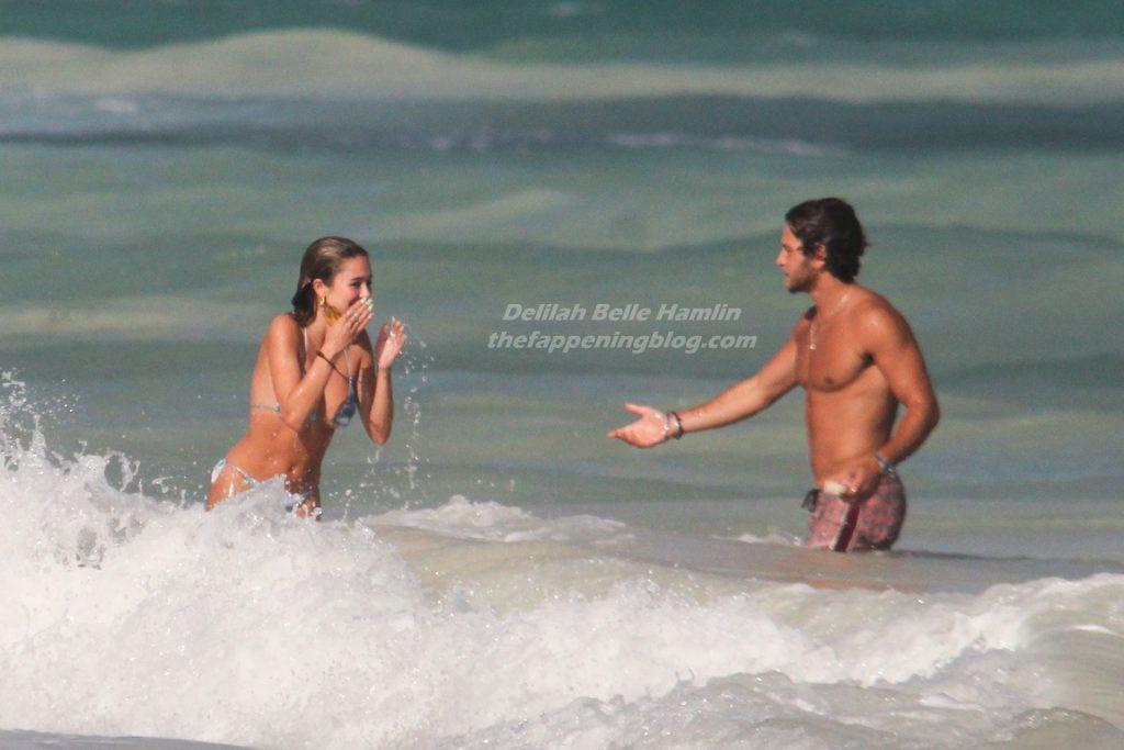 Delilah Hamlin Packs on the PDA with Eyal Booker on the Beach in Tulum (30 Photos)