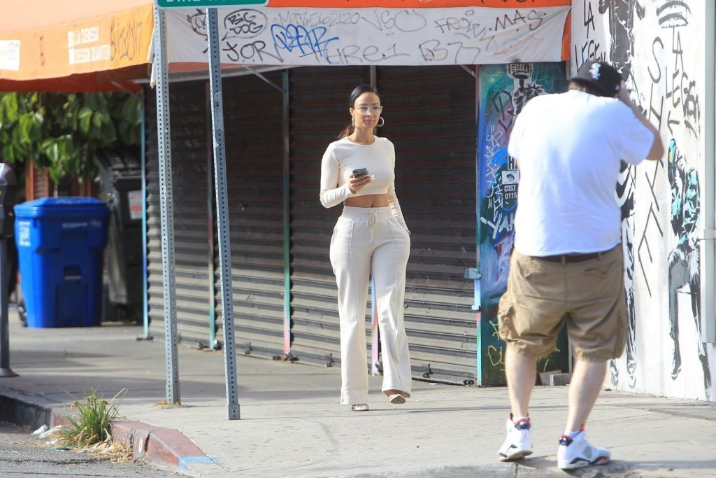 Draya Michele Films Her Reality Show in WeHo (36 Photos)
