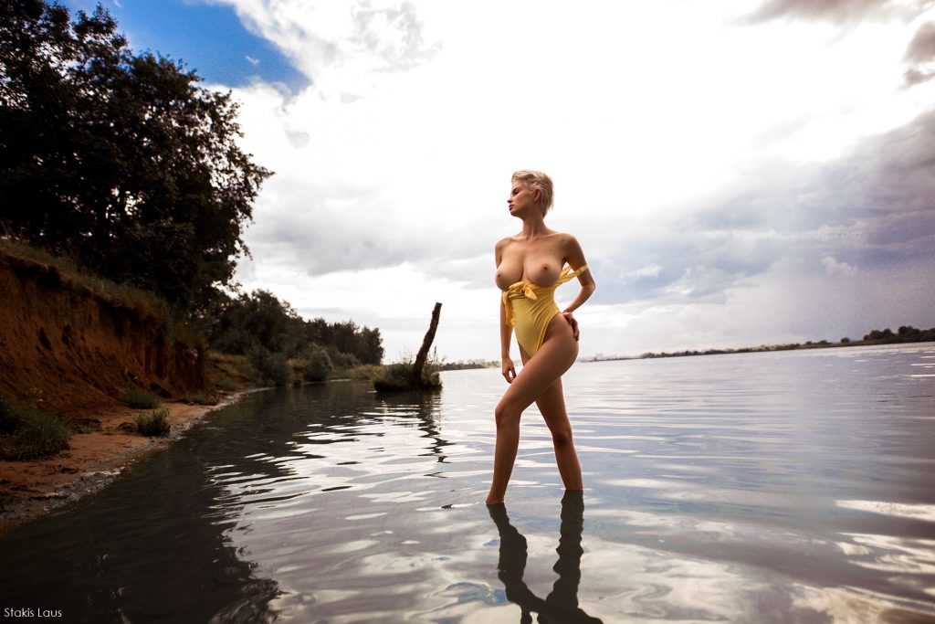 Julia Logacheva Shows Her Nude Tits (4 Photos)