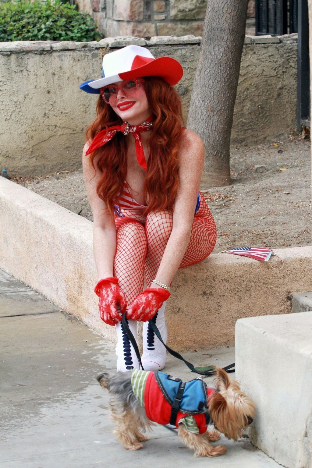 Phoebe Price Poses in a Patriotic Outfit (33 Photos)