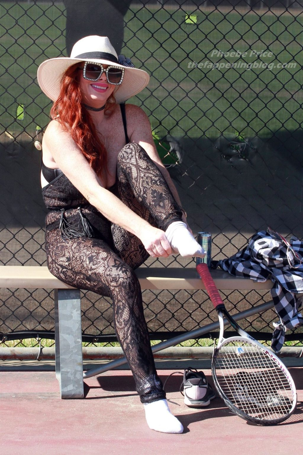 Phoebe Price Goes Racy Lacy on the Tennis Court (34 Photos)