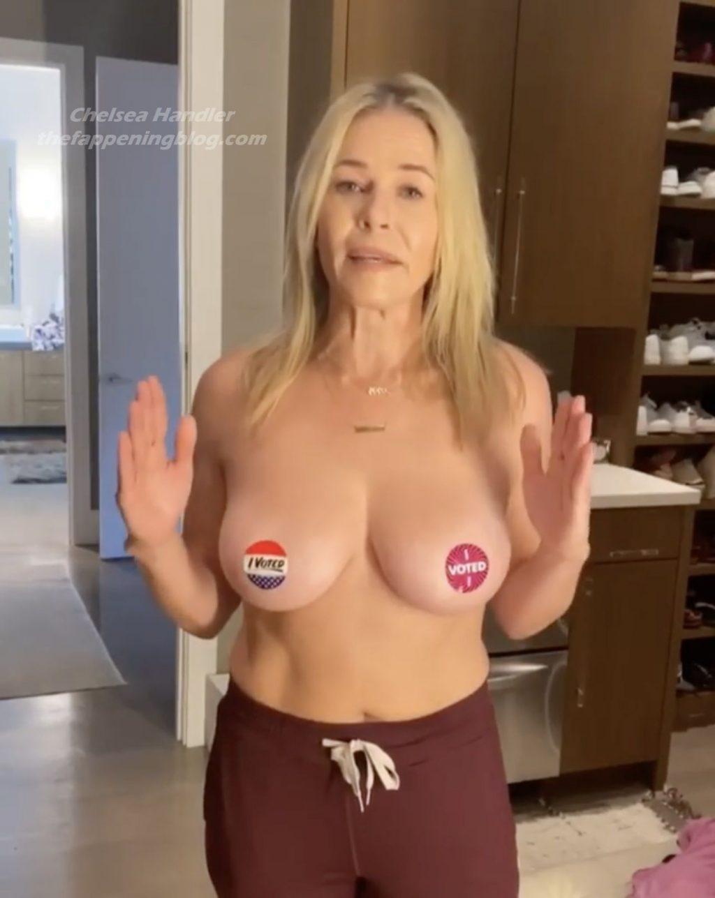 Chelsea Handler Topless (10 Pics + Video)