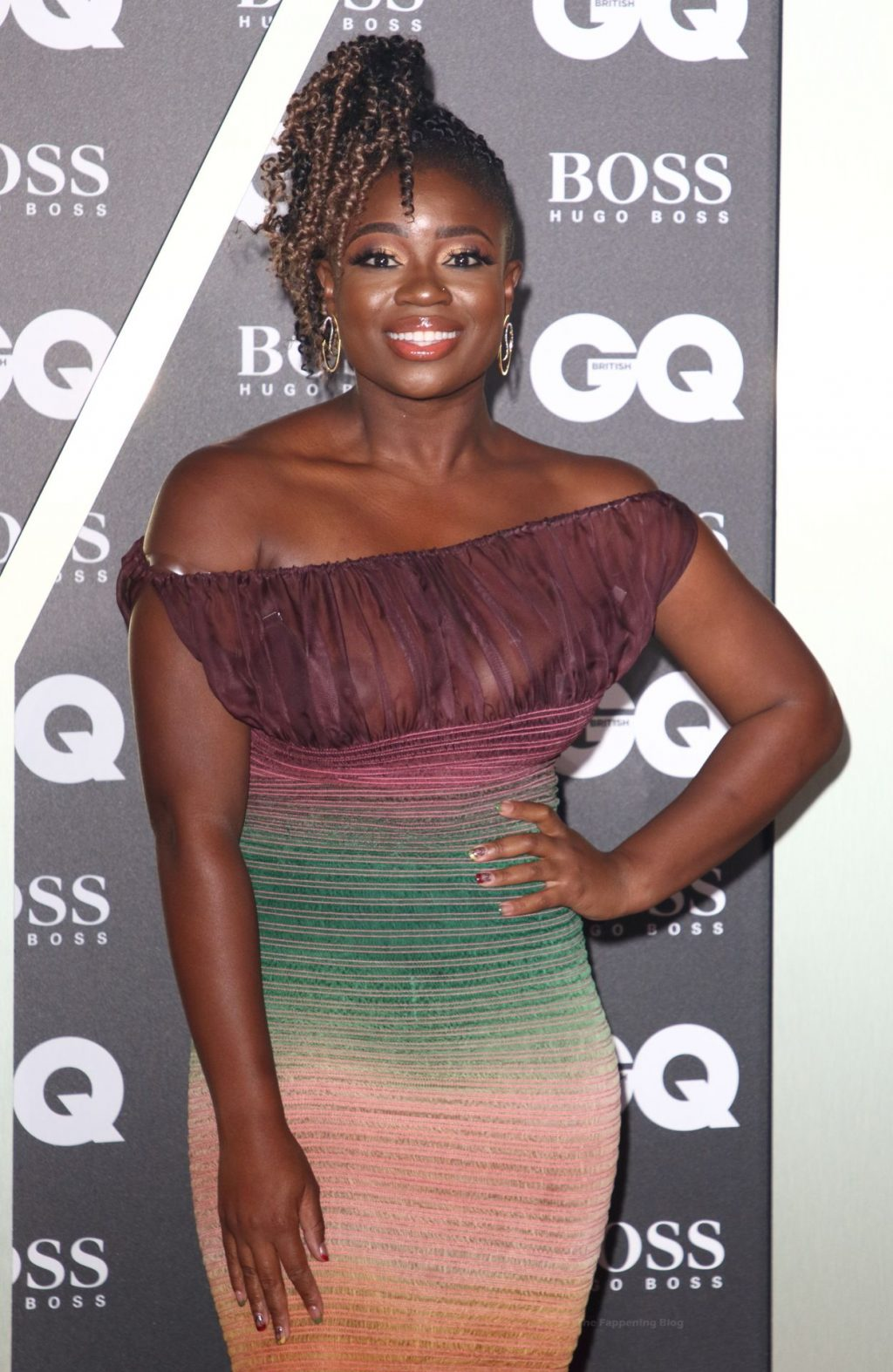 Clara Amfo Shows Off Her Nude Tits at the GQ Men of the Year Awards (10 Photos)
