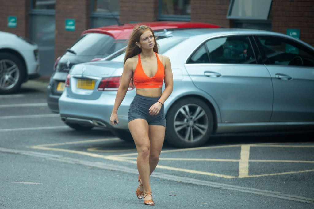 Maisie Smith Wears a Skimpy Outfit and Heels as She Rehearses for Strictly Come Dancing In London (81 Photos)