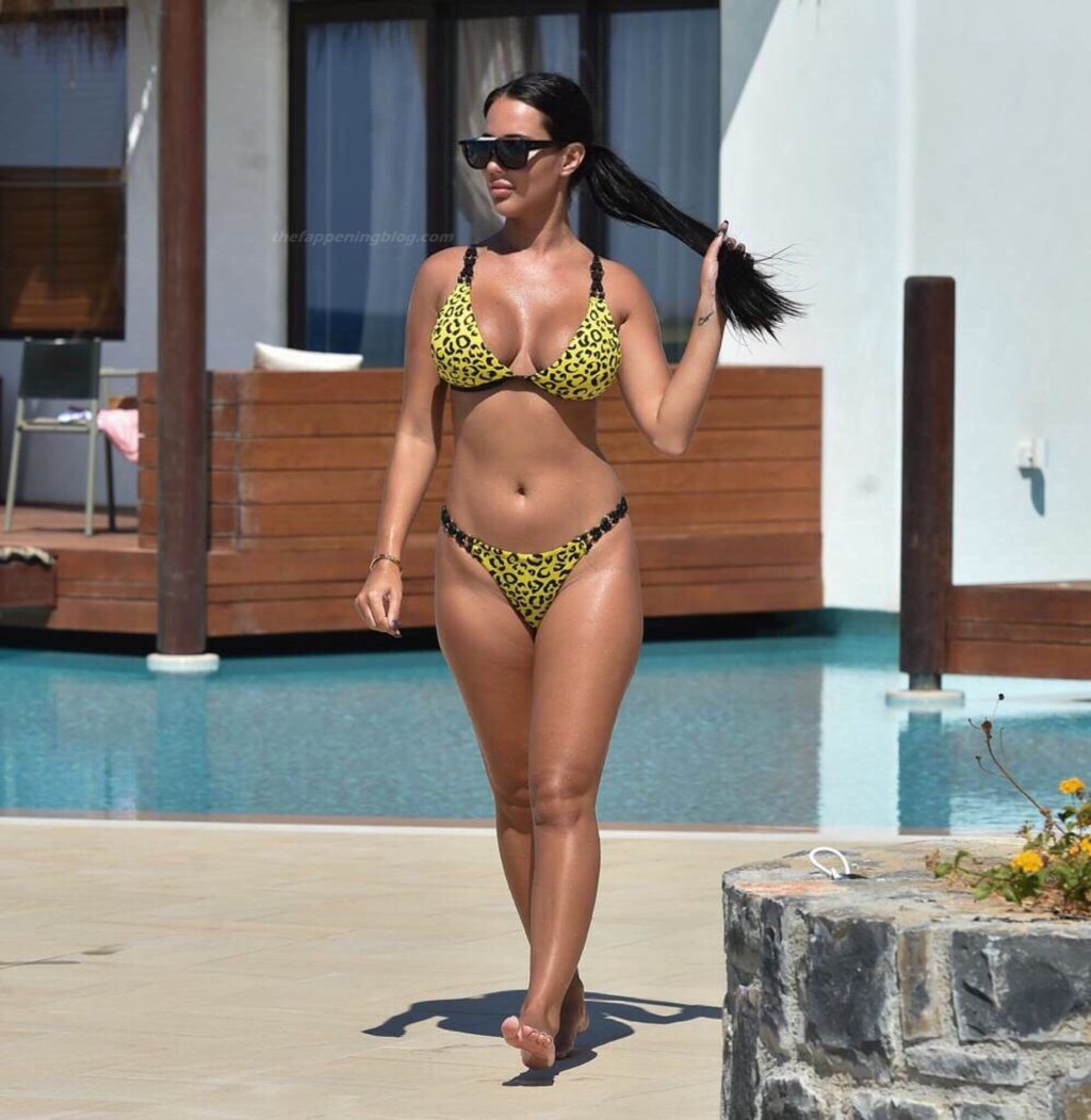 Yazmin Oukhellou Relaxes by the Pool During a Recent Trip to Turkey (10 Photos)