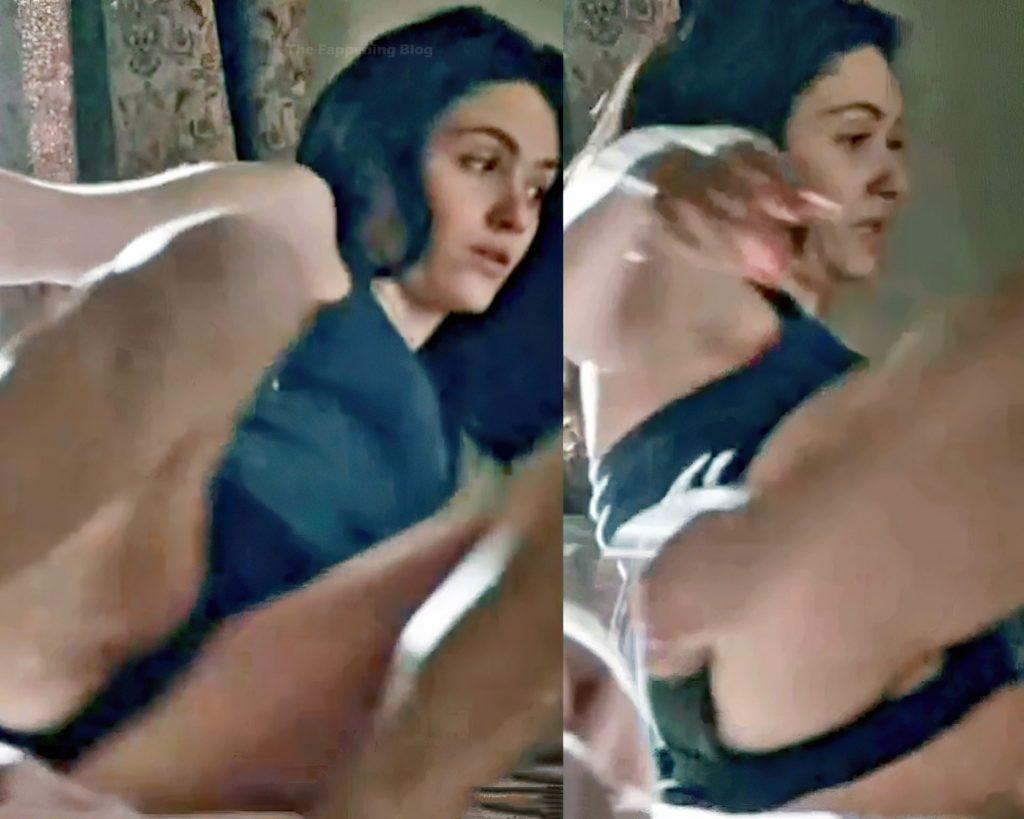 Emmy Rossum Nude & Sexy (3 Collage Photos + Video)