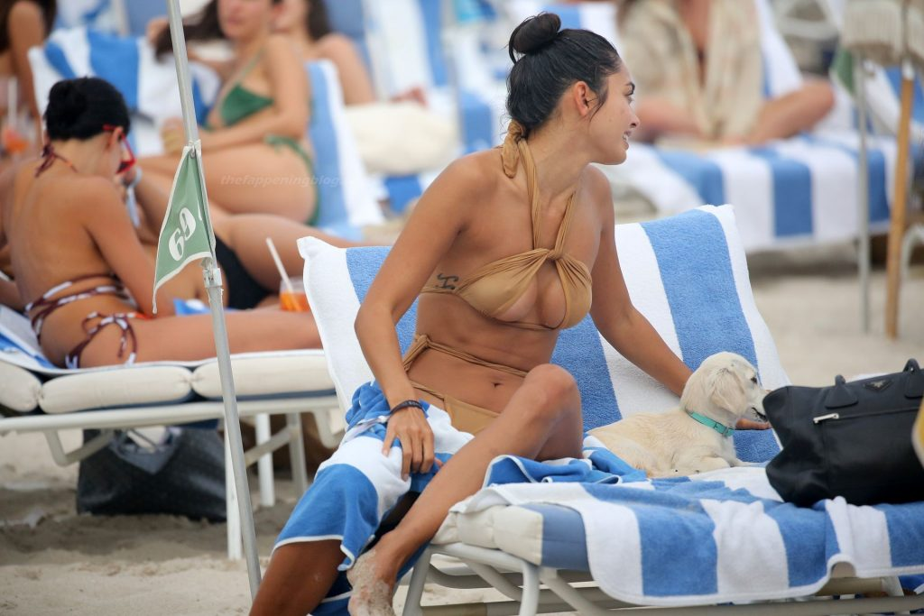 Ambra Gutierrez Wears Displays Her Butt and Tits on the Beach in Miami (54 Photos)