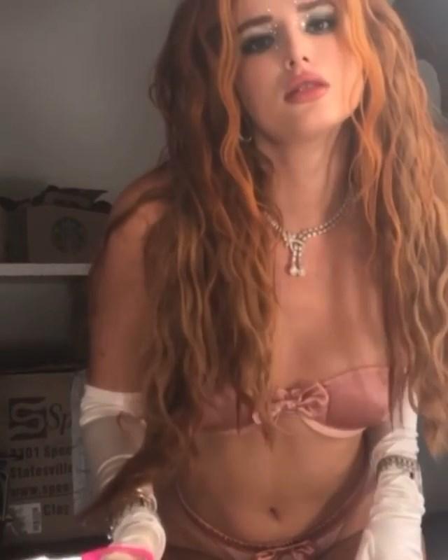 Bella Thorne Surprises with Scissors (8 Photos + Video)