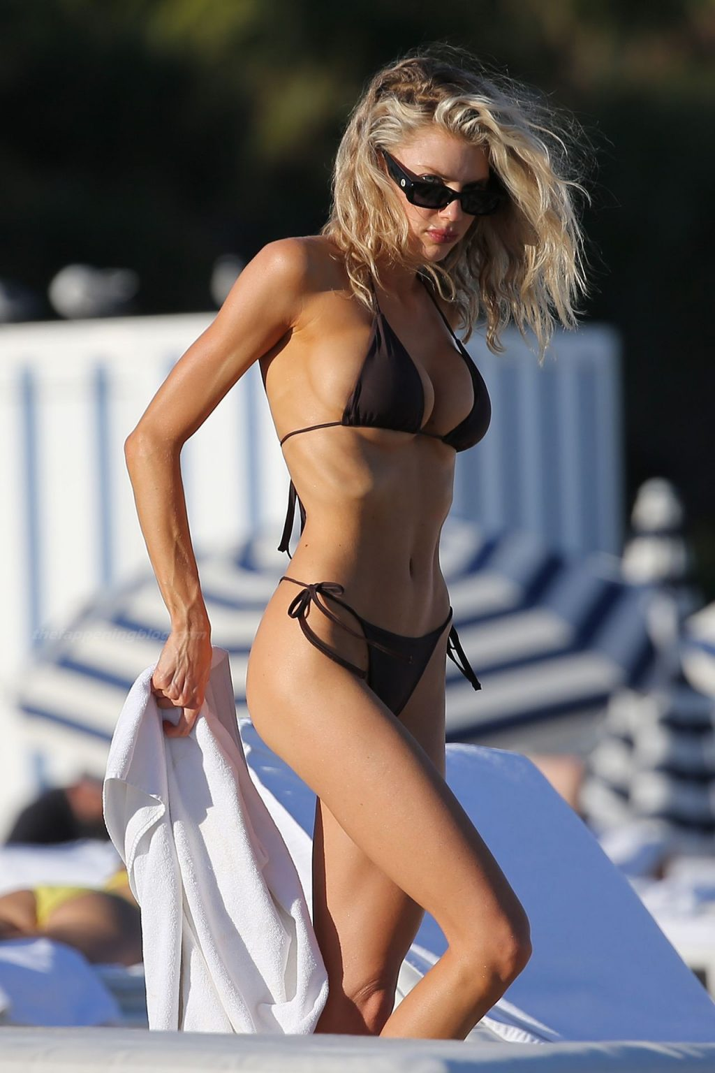 Charlotte Mckinney Shows Off Her Amazing Body on the Beach in Miami (18 Photos)