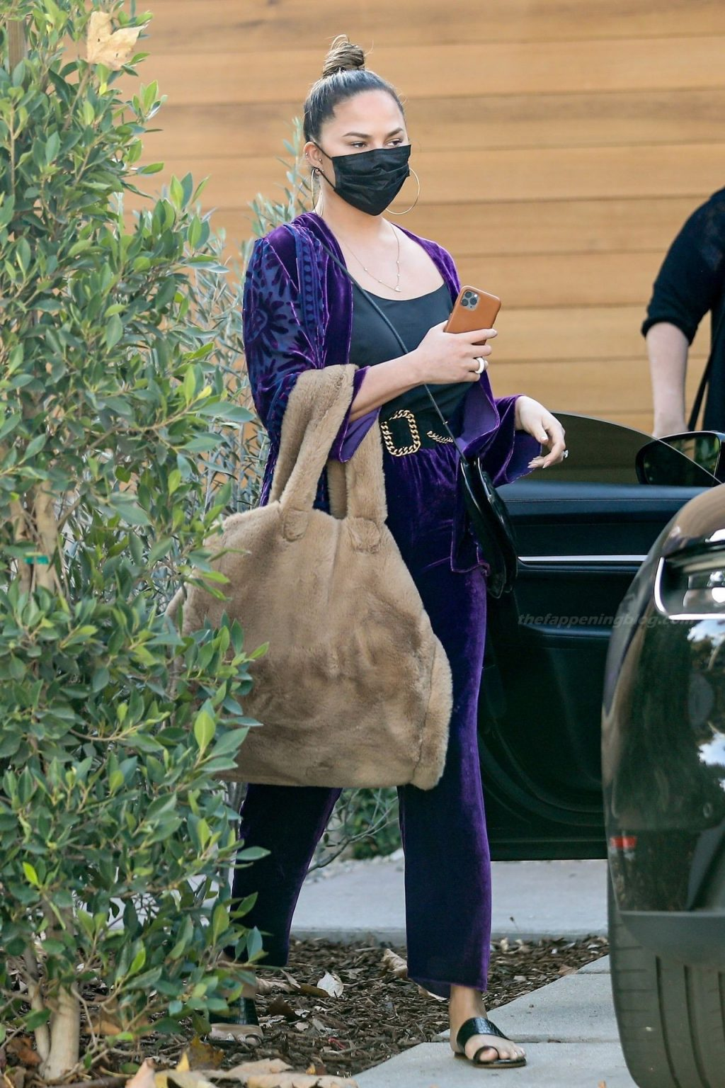 Braless Chrissy Teigen Checks in on the Construction of Her New LA Home (48 Photos)