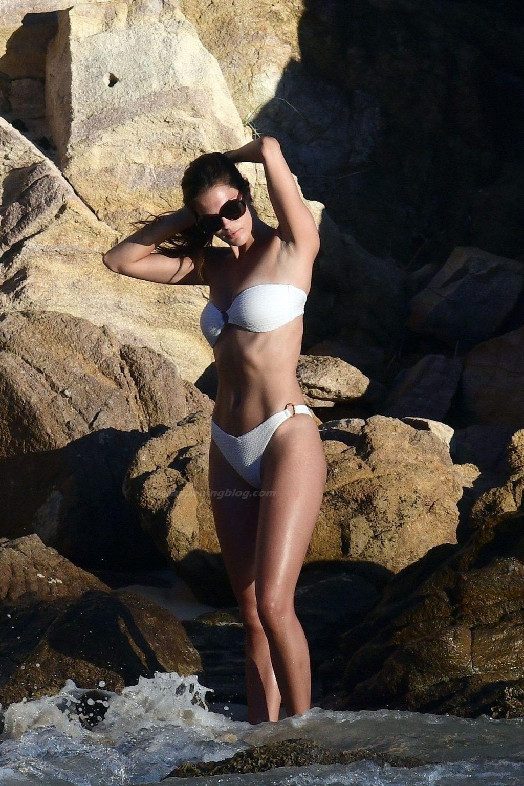 Iris Mittenaere Enjoys a Day at the Beach with Diego El Glaoui (91 Photos)