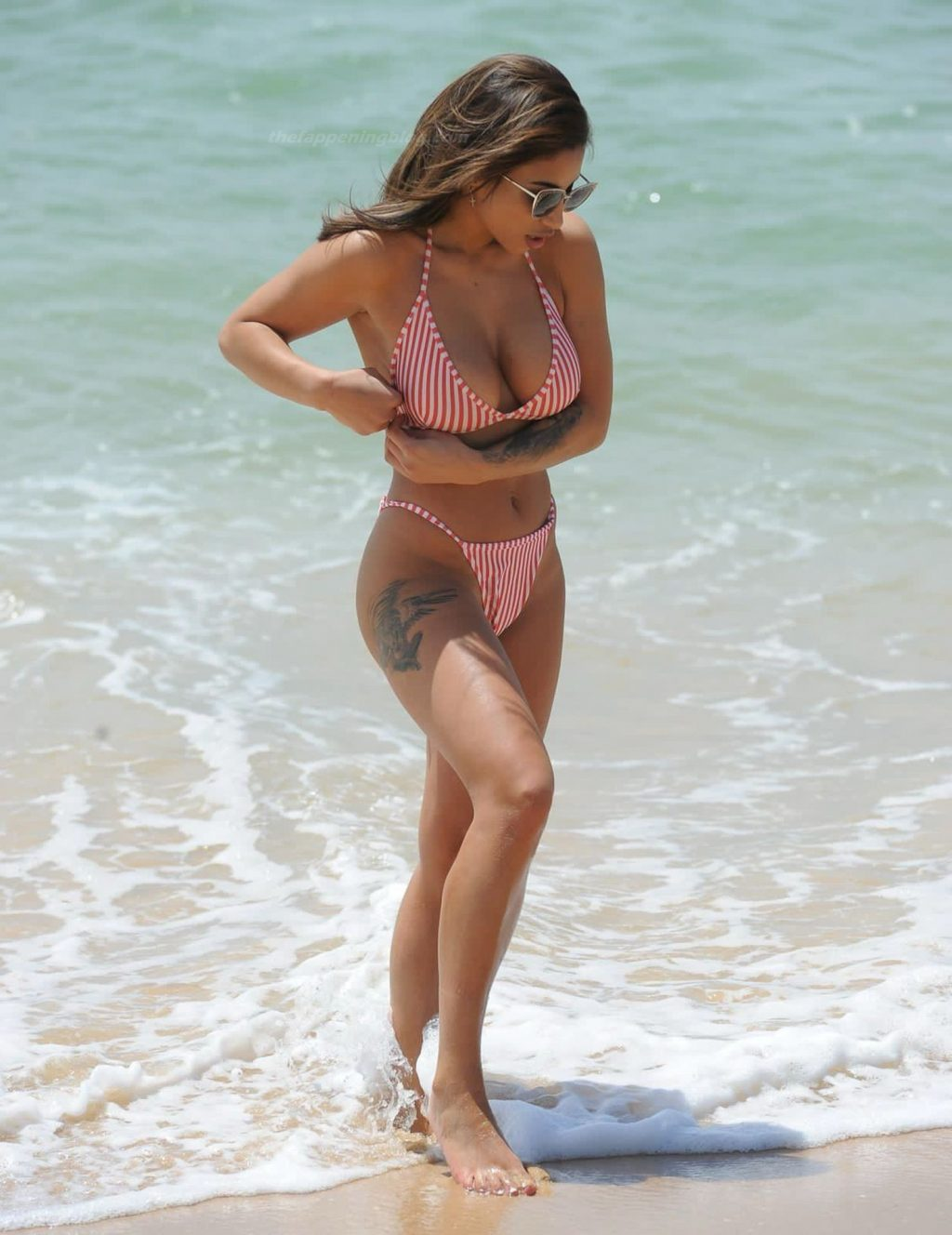 Kayleigh Morris Enjoys a Day on the Beach During a Recent Break In Cyprus (19 Photos)