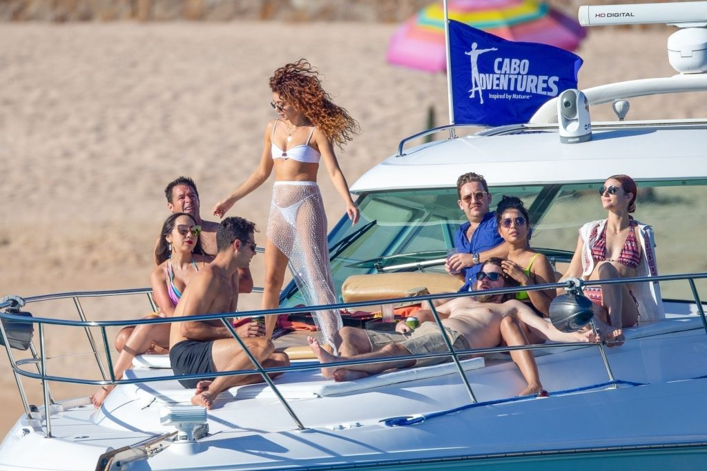 Sarah Hyland Displays Her Incredible Figure in a Bikini as She Larks Around on a Boat (54 Photos)