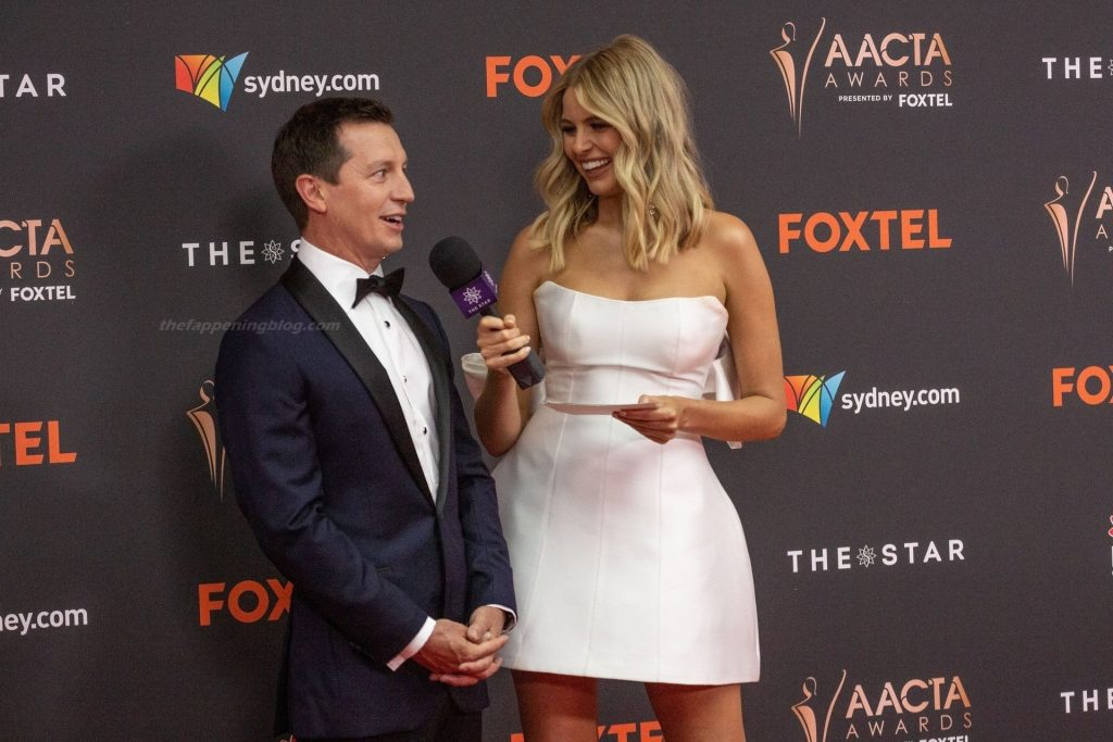 Tegan Martin Flaunts Her Sexy Legs in a White Dress at the 2020 AACTA Awards (16 Photos)
