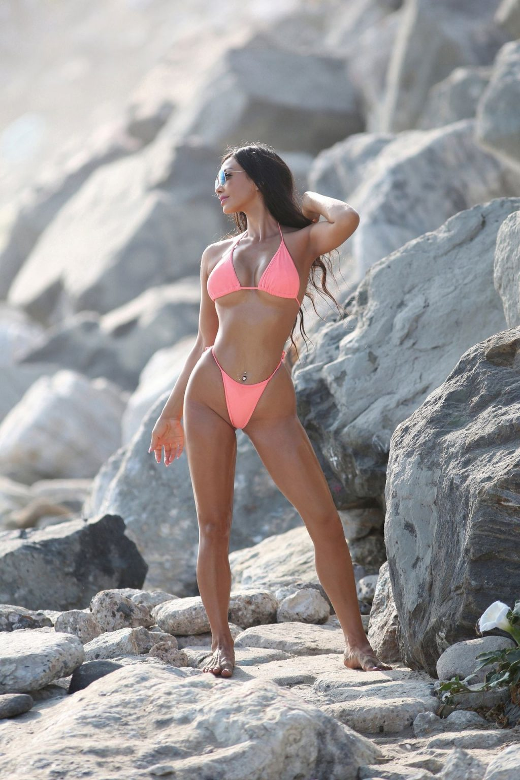 Val Fit Shows Off Her Sexy Beach Body in a Tiny Pink Bikini (46 Photos)
