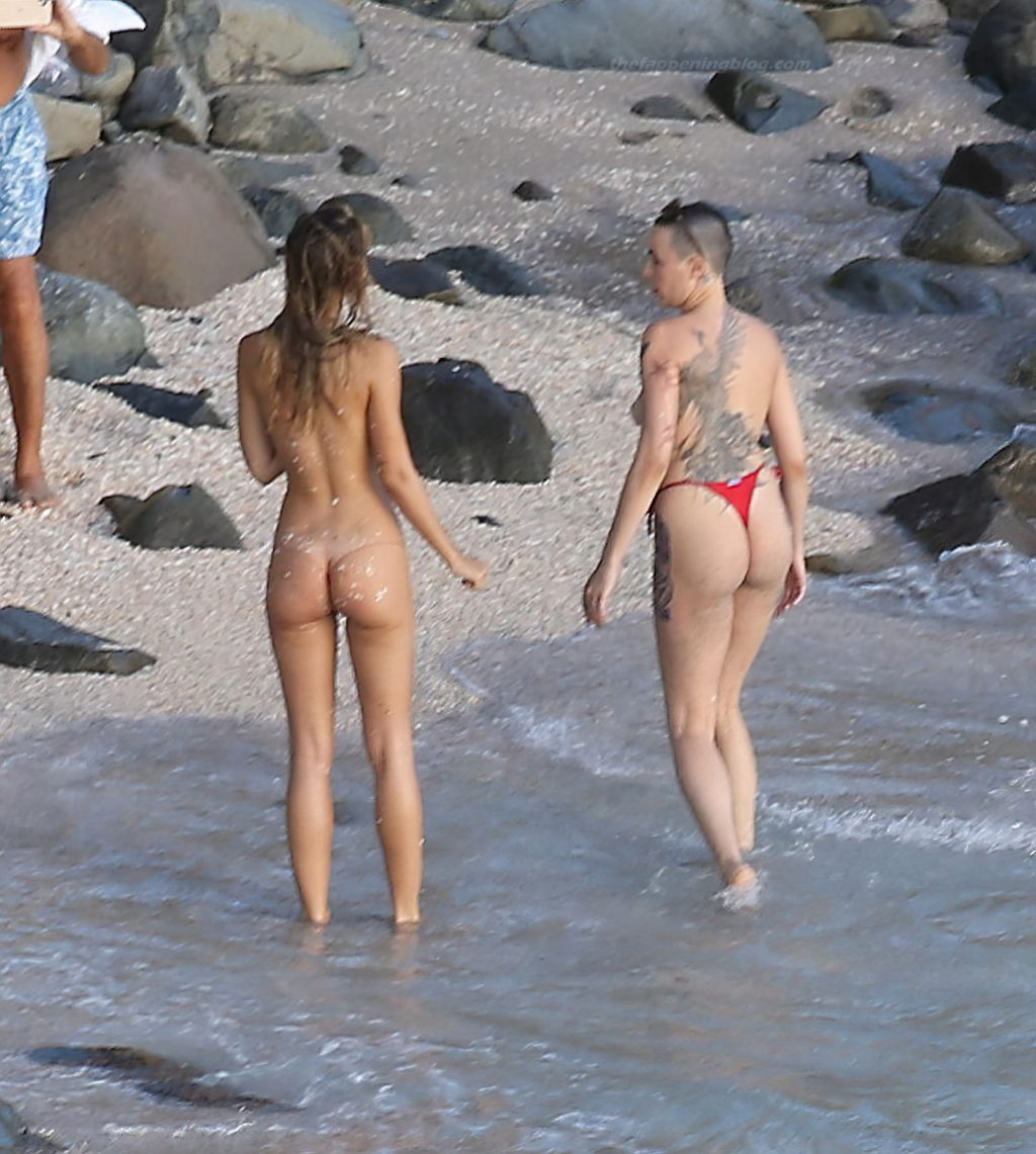 Alexis Ren Displays Her Nude Tits on the Beach (51 Photos)