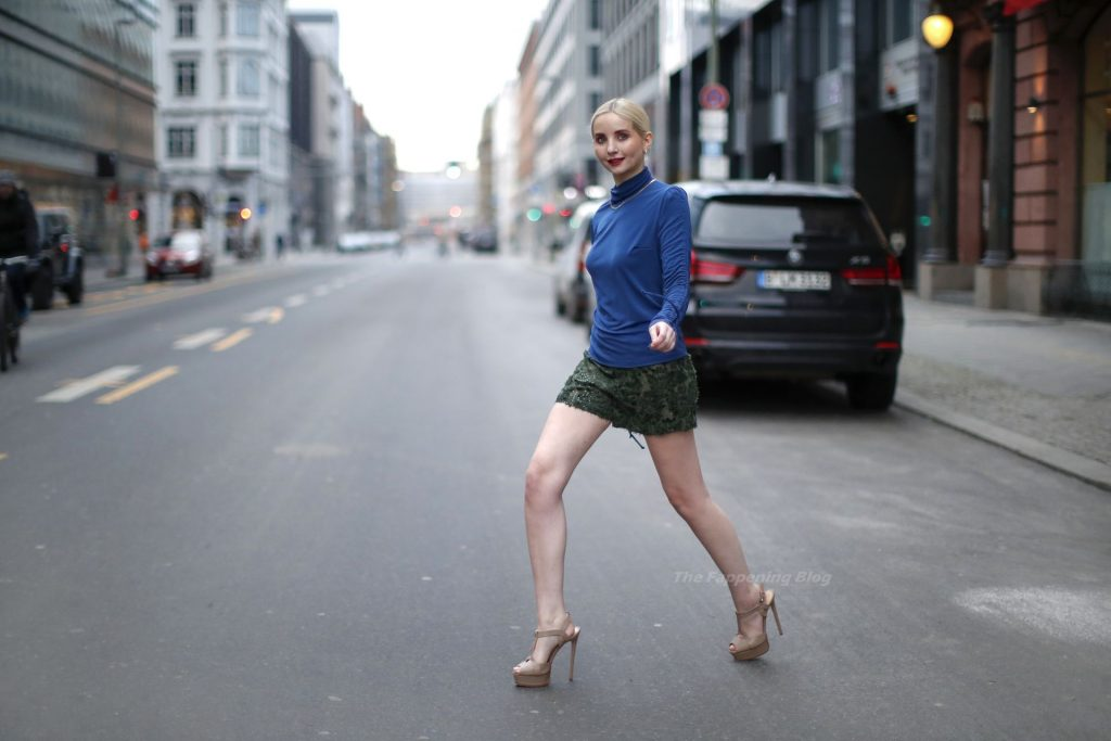 Leggy Anna Hiltrop Poses for the Mercedes-Benz Fashion Week in Berlin (9 Photos)