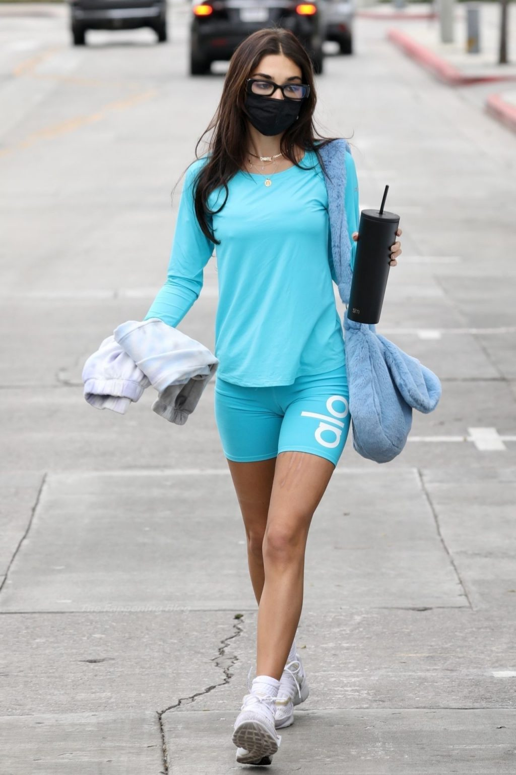Chantel Jeffries Shows Her Cameltoe in a Blue Yoga Outfit for a Pilates Class (19 Photos)