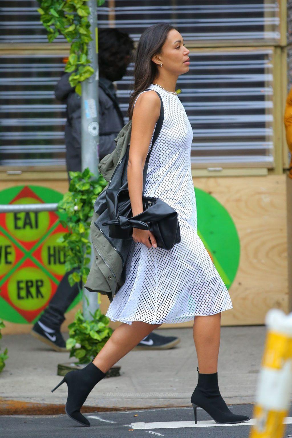 Ilfenesh Hadera Twirls Braless in NYC (35 Photos)