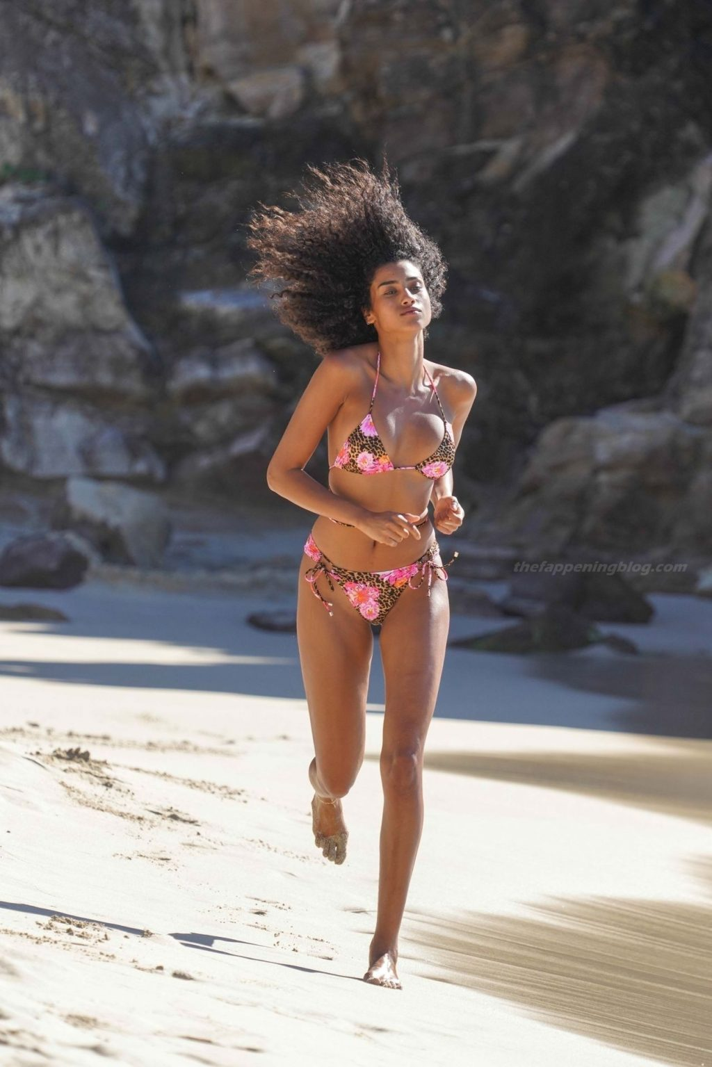 Imaan Hammam Stuns as She Poses for VS in St. Barts (33 Photos)