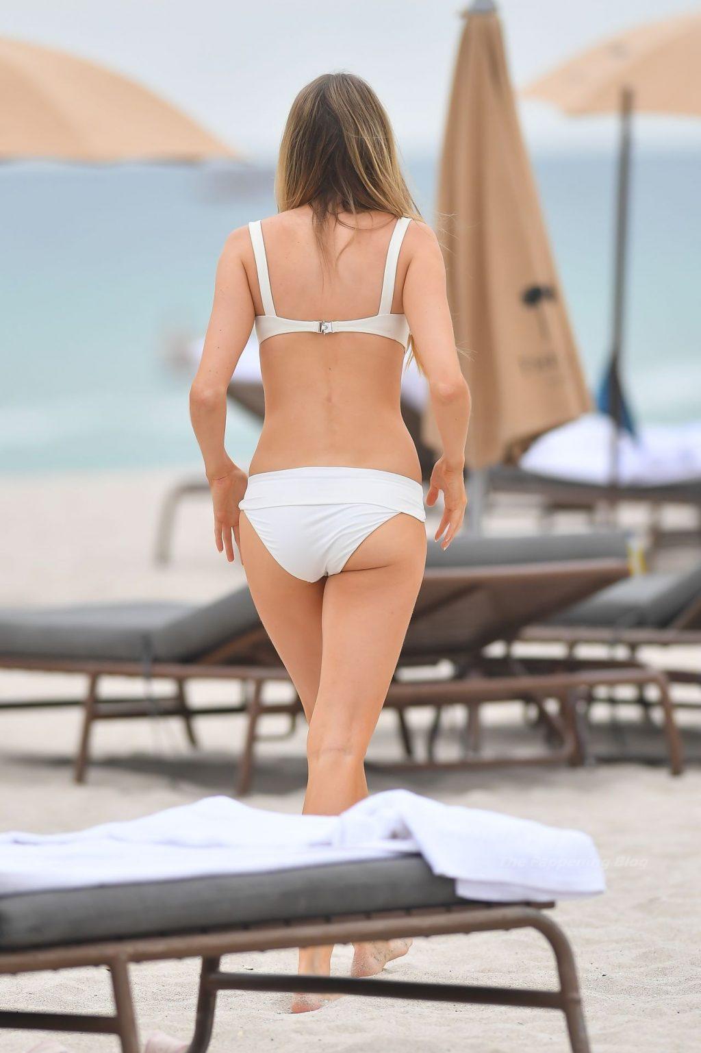 Louisa Warwick Flaunts Her Sexy Body in a White Bikini in Miami Beach (36 Photos)