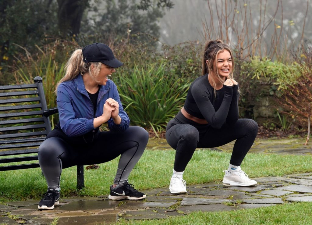 Lesbians Sarah Hutchinson & Charlotte Taundry are Seen in a Park (32 Photos)
