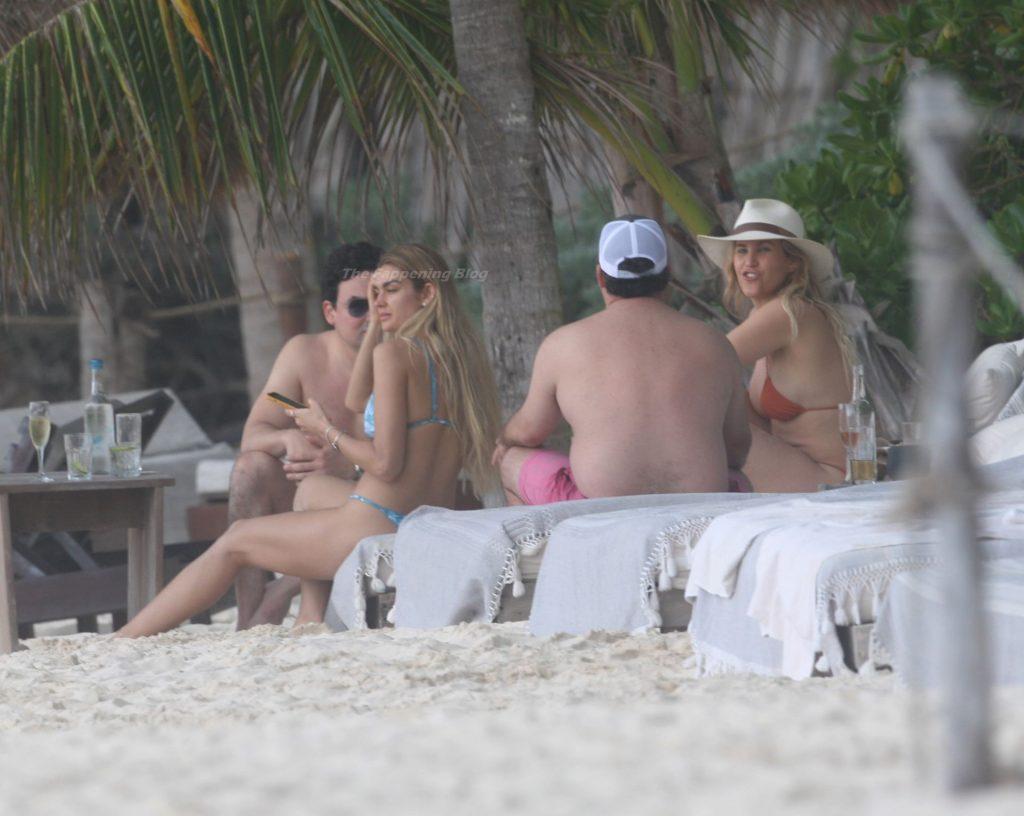 Shayna Taylor Enjoys a Day on the Beach in a Blue Bikini (29 Photos)