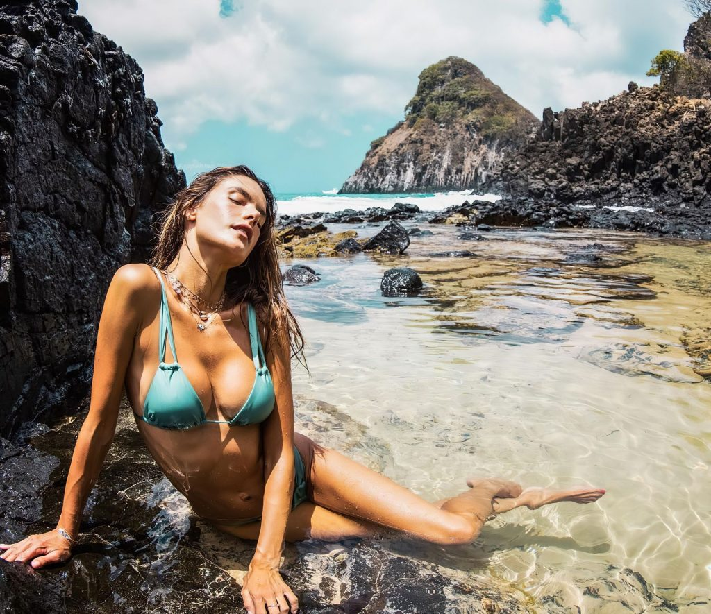 Alessandra Ambrosio Looks Hot in a Bikini (7 New Photos)