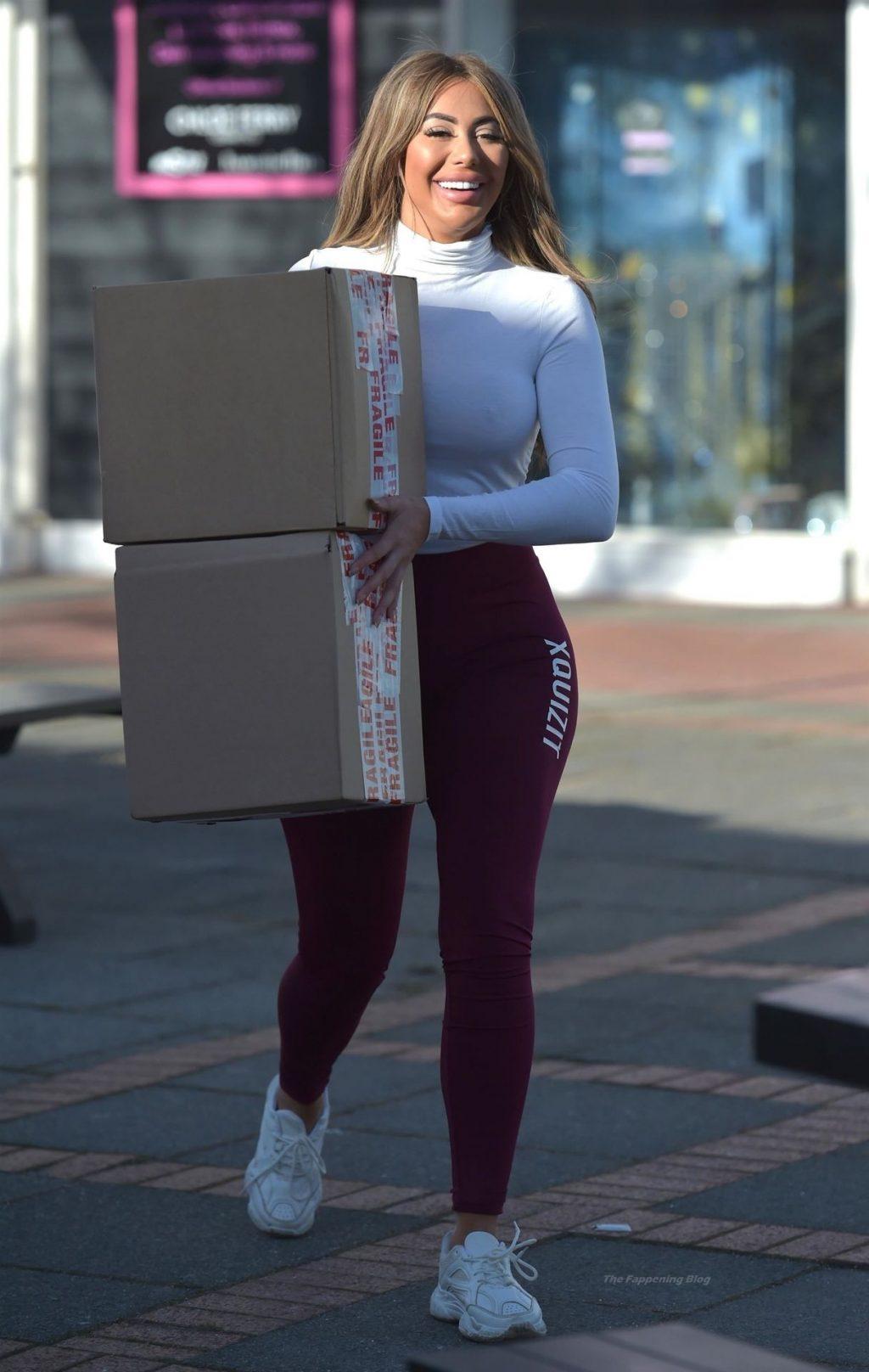 Chloe Ferry is Seen Braless in Newcastle (36 Photos)