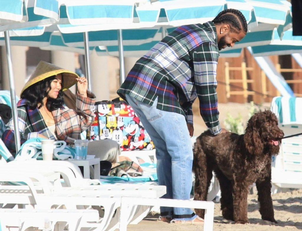 Big Sean and Jhené Aiko Enjoy Their Valentine's Day on the Beach in Santa Barbara (15 Photos)
