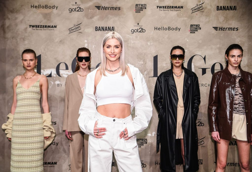 Lena Gercke Shows Her Tits at About You During Berlin Fashion Week (12 Photos)