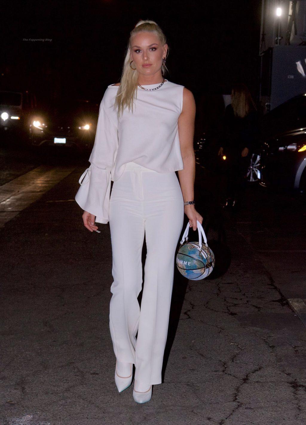 Lindsey Vonn Stuns in All White in New York (20 Photos)