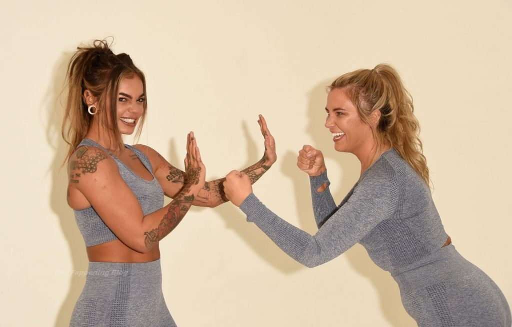 Sarah Hutchinson & Charlotte Taundry Enjoy a Sexy and Sporty Photoshoot in Manchester (60 Photos)