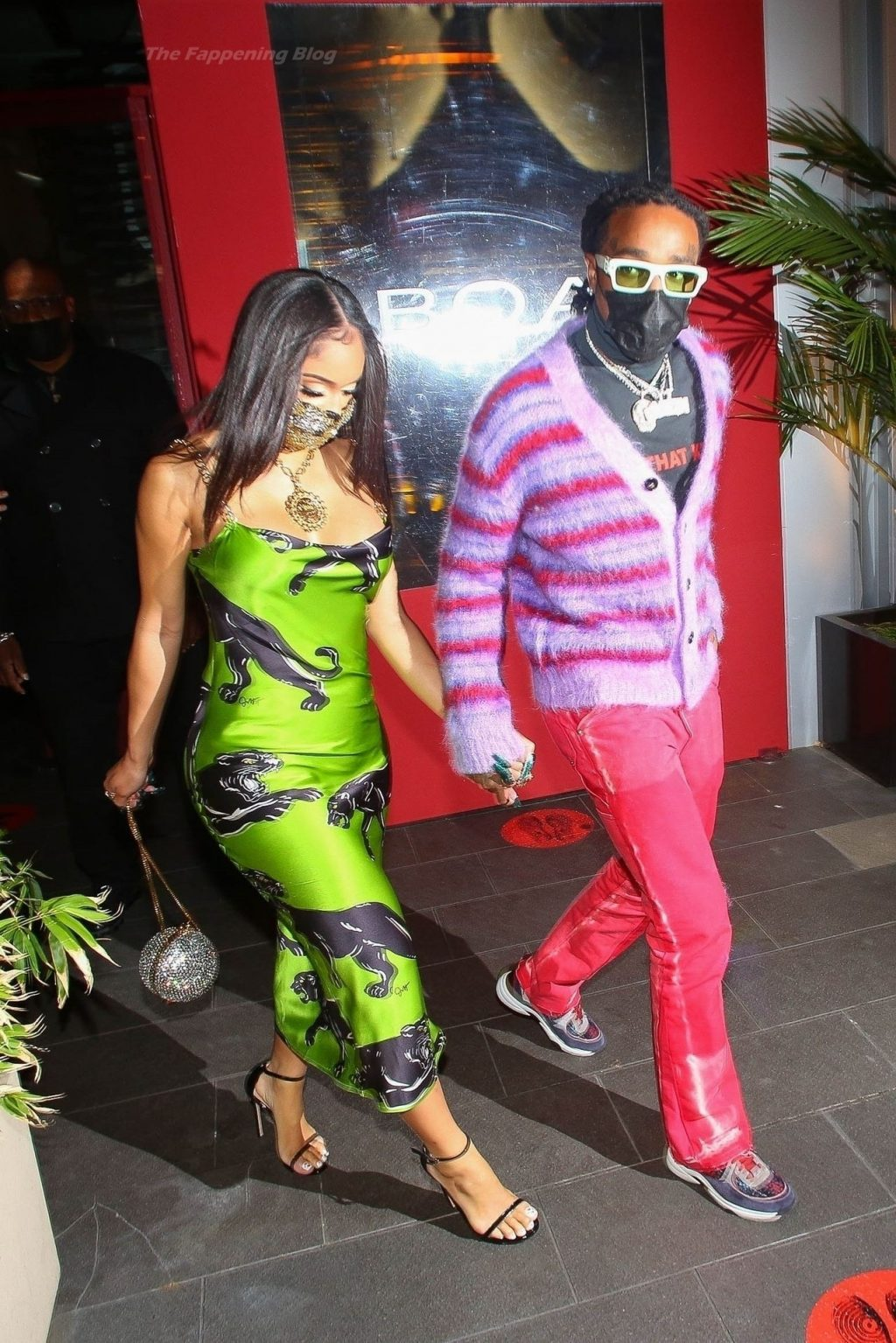 Quavo and Saweetie are Seen Holding Hands After Enjoying a Romantic Valentine's Day Dinner (92 Photos)