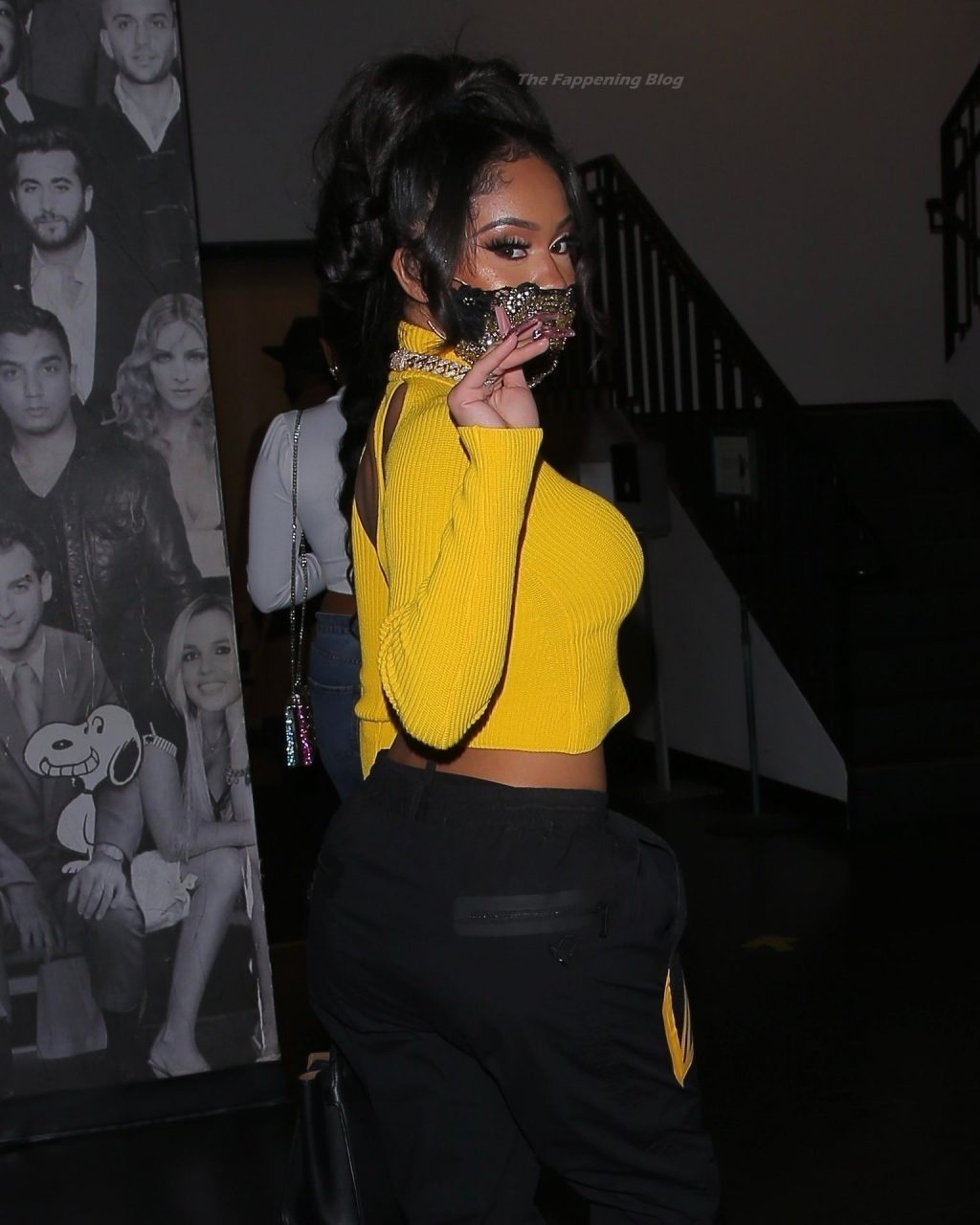 Saweetie Makes a Bold Statement in Yellow as She Arrives for Dinner in WeHo (15 Photos)