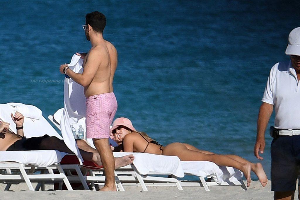 Sofia Richie Rocks a Bikini and Kisses a Mystery Man on the Beach in Miami (82 Photos)