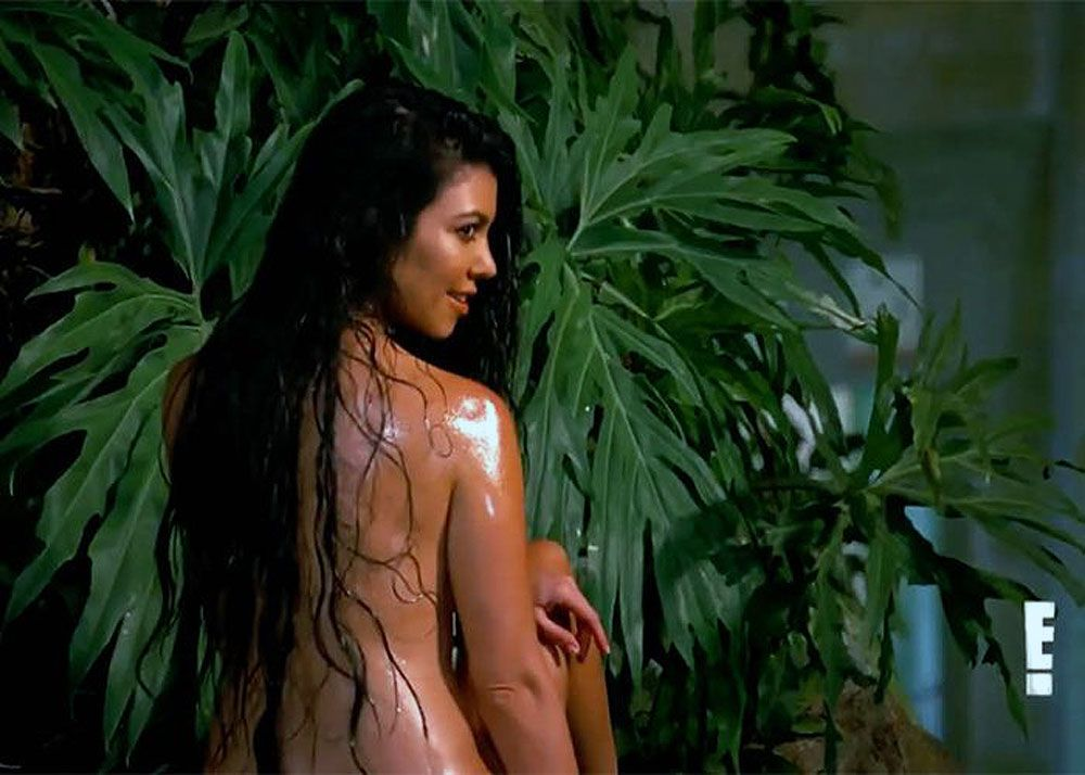 Kourtney Kardashian Strips Nude To Tease New Mystery Project