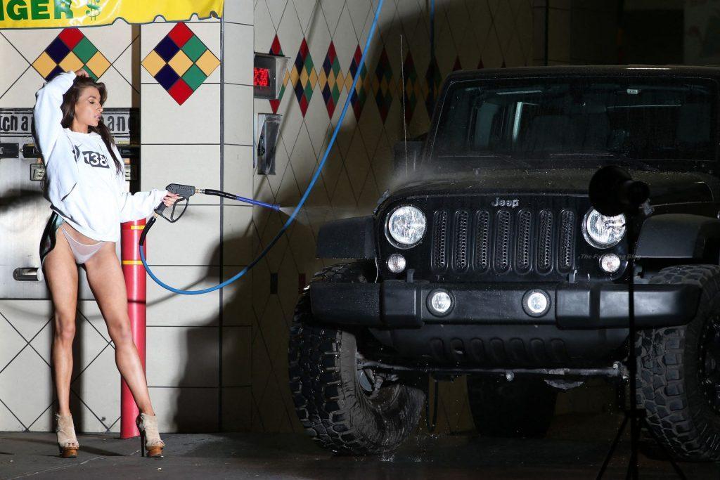 Aubrey Evans Shoots a New Advert for 138 Water in LA (51 Photos)