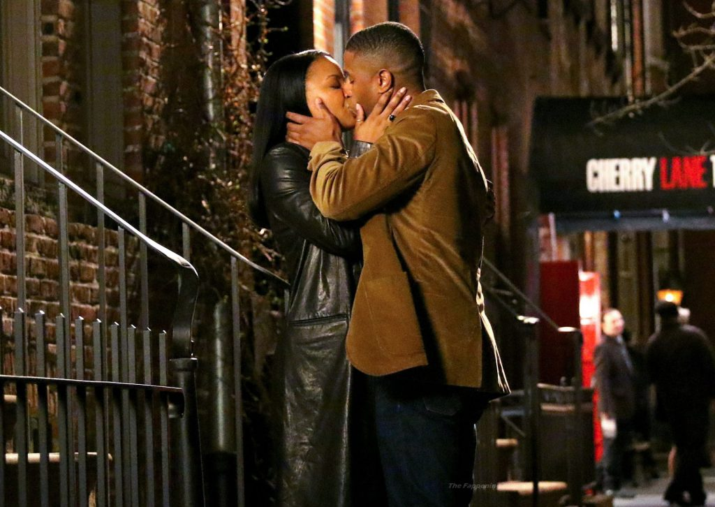 Michael B. Jordan & Chanté Adams are Pictured Kissing on the Set in NYC (19 Photos)