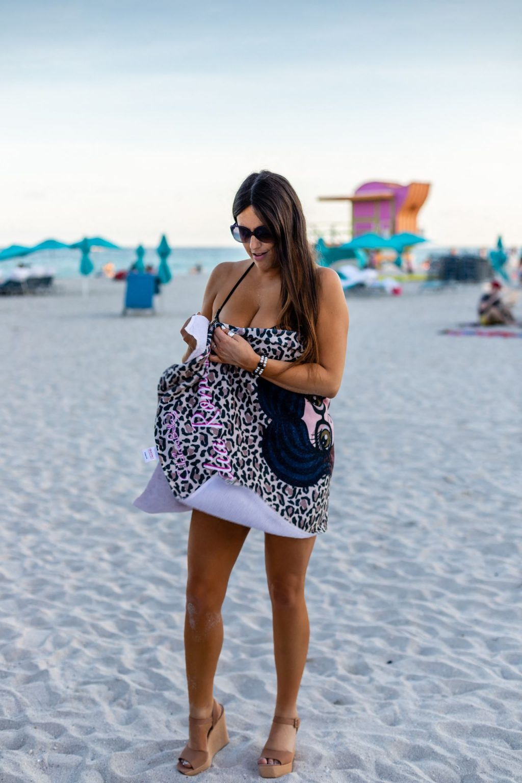 Claudia Romani is Pictured Relaxing on South Beach (29 Photos)