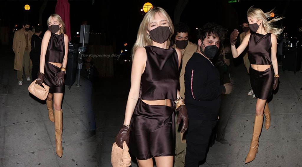 Delilah Belle Hamlin Shows That Blondes Have More Fun While Arriving at Delilah (21 Photos)