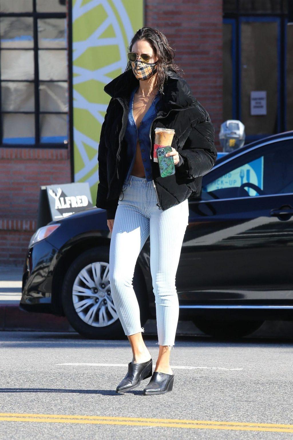 Eiza Gonzalez's Unbuttoned Blouse Blows Open During Coffee Run in WeHo (55 Photos)